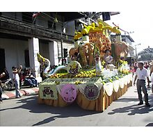 Brilliant Floral Float at Chiang Mai Festival. Photographic Print