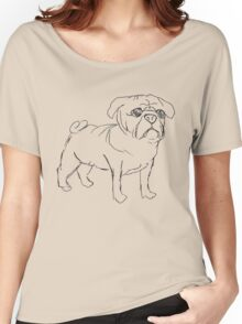 Simple Pug Women's Relaxed Fit T-Shirt