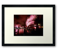 Sydney New Years Eve Fireworks 2007 Framed Print