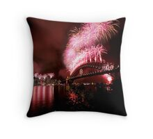 Sydney New Years Eve Fireworks 2007 Throw Pillow