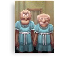 Muppet Maniac - Statler & Waldorf as the Grady Twins Canvas Print