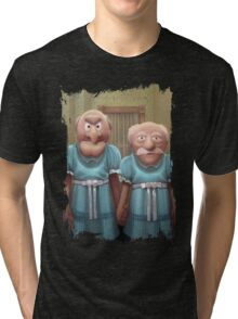 Muppet Maniac - Statler & Waldorf as the Grady Twins Tri-blend T-Shirt