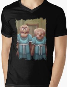 Muppet Maniac - Statler & Waldorf as the Grady Twins Mens V-Neck T-Shirt