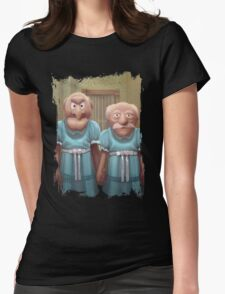 Muppet Maniac - Statler & Waldorf as the Grady Twins Womens Fitted T-Shirt
