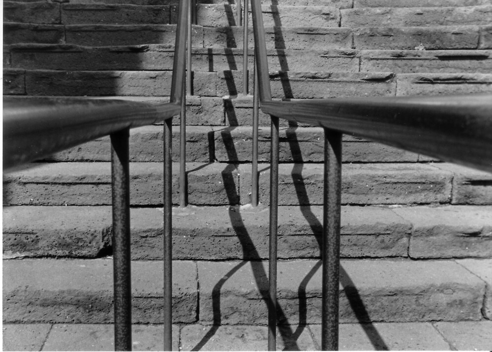 Bannister and steps at Agde by Paul Pasco