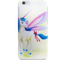 Blue Mane Fairy Unicorn  iPhone Case/Skin