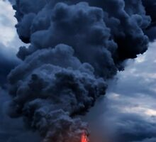 Kilauea Volcano at Kalapana 3b by Alex Preiss