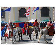 Medieval knights parade Poster