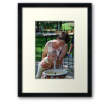 The thirsty one Framed Print