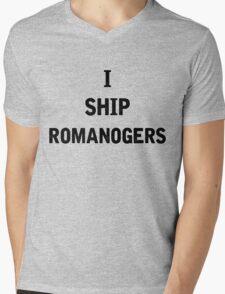 I Ship Romanogers Mens V-Neck T-Shirt