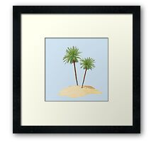 Palms on the Island Framed Print