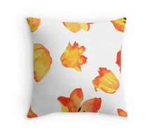 - Yellow tulips pattern - Throw Pillow