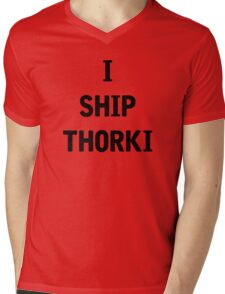 I Ship Thorki Mens V-Neck T-Shirt