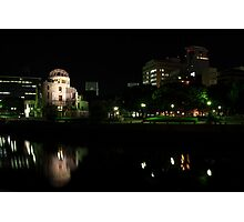 A-Bomb Dome At Night Photographic Print