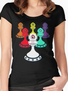 Legion of Pawns (Black) Women's Fitted Scoop T-Shirt