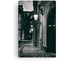 Prague evening empty street Canvas Print