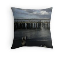 Old Water Front Throw Pillow
