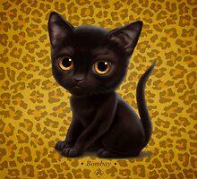 Cataclysm - Bombay Kitten - Leopard print by Iker Paz Studio