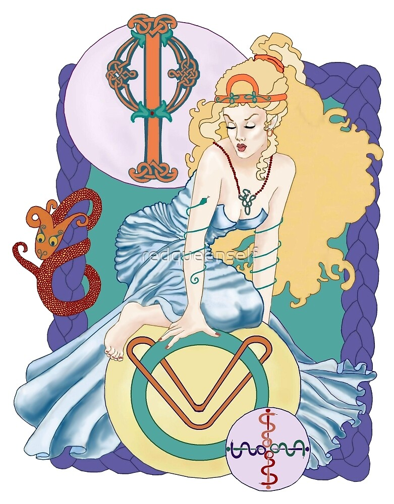 Celtic Ophiuchus by redqueenself