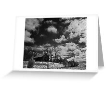 Clark Schoolhouse - clearing snow storm Greeting Card