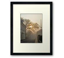 Fog in QE2 Street - Alderney Framed Print