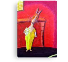 299 - MODIGLIANI BUNNY - DAVE EDWARDS - COLOURED PENCILS & INK - 2010 Canvas Print