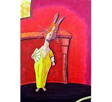 299 - MODIGLIANI BUNNY - DAVE EDWARDS - COLOURED PENCILS & INK - 2010 Photographic Print