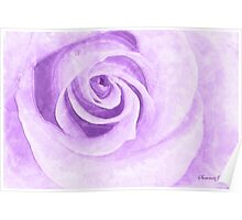Water Colored Memory ~ Purple Rose Poster