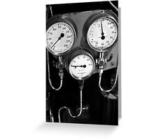 Old gauges Greeting Card