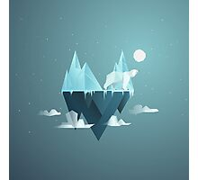 Low Poly Polar Bear Photographic Print