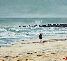 """Solitude"" impressionist seascape by Hilary J. England by fieldsendart"