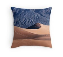 Sunrise over Mesquite Flat Sand Dunes Throw Pillow