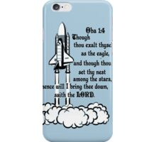 OBADIAH 1:4 - I WILL BRING THE DOWN iPhone Case/Skin