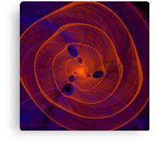 Orange purple abstract marine spiral fractal background Canvas Print
