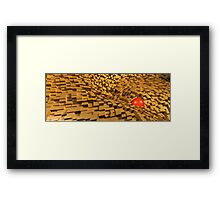 the red one flushed away Framed Print