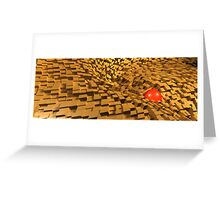 the red one flushed away Greeting Card