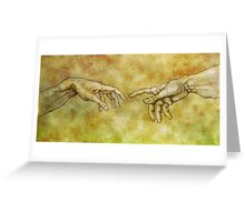The Birth of Man - Silverpoint Greeting Card