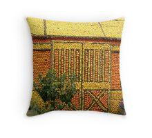 Citrus fruit house Throw Pillow