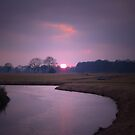 River and Sunset by ienemien