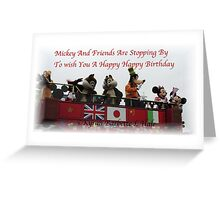 Mickey And Friends Greeting Card