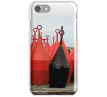 Buoys line up ready for the job iPhone Case/Skin