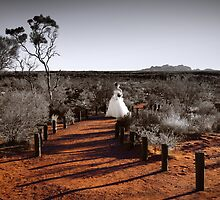 sexy bride at Voyages resort: Ayers Rock and the Olgas by idphotography