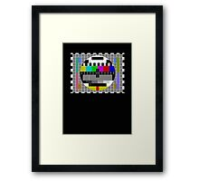 TV Test Pattern T-shirt - Big Bang Theory Inspired Sheldon's Tee Framed Print