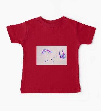 Majestic Unicorn Purple and Blue Baby Tee