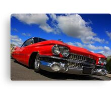 Red Caddy Canvas Print