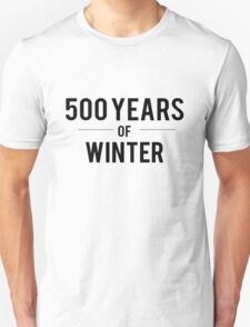 500 Years of Winter Print 2 T-Shirt