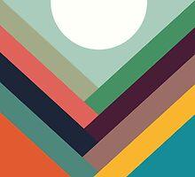 Geometric Rows of Valleys by Budi Kwan