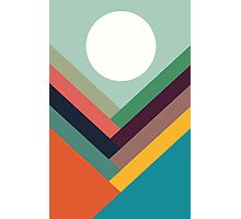 Geometric Rows of Valleys Photographic Print