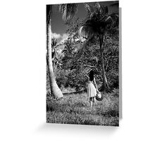 In search of shade Greeting Card