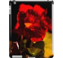 Backlit Nasturtium iPad Case/Skin